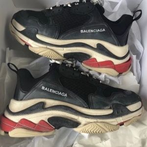 Balenciaga Triple S trainers black red white
